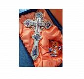 Cruce aurita cu iconite