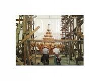 Candelabru Aluminiu Aurit cu Horos 750 Becuri