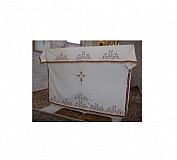 Acoperamant Sf. Masa Alb din Catifea