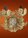 Aplica Biserica Aluminiu Aurit