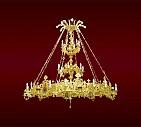 Candelabru Bronz Aurit 70 Becuri