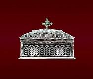 Cutie Sf. Moaste Mare Argintata
